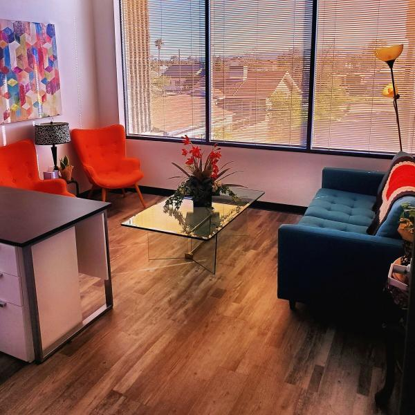 This is one of our warm, cozy, and welcoming counseling offices.